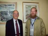 With J. Stanley Lemons, historian of the First Baptist Church in America